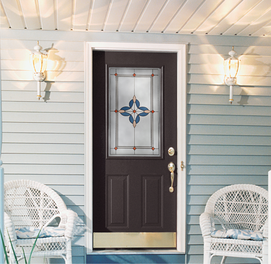 Provia Steel Entry Door with Decorative Glass