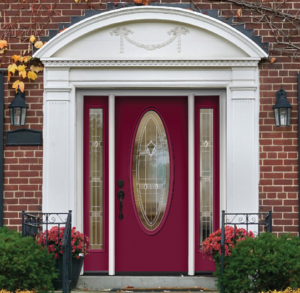 Red ProVia Fiberglass Entry Door